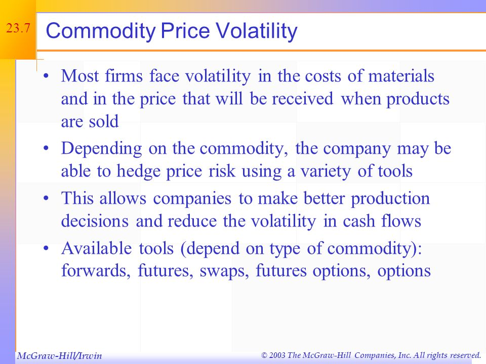Commodity Price Volatility