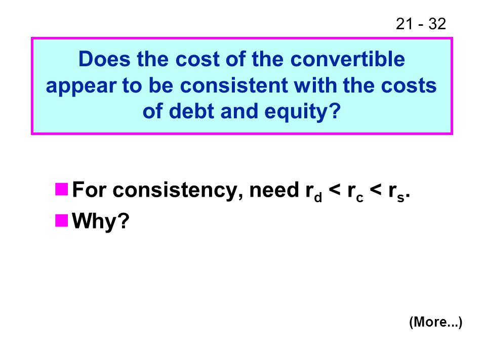 For consistency, need rd < rc < rs. Why