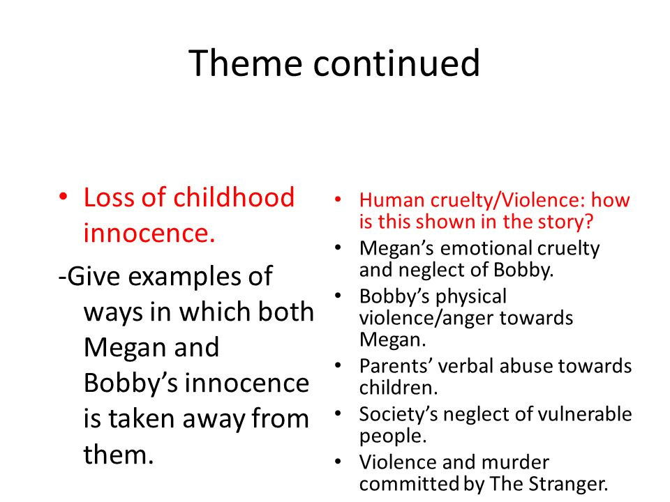 a view on childhood and innocence Definition of innocence in english: innocence noun mass noun 1 the state, quality, or fact of being innocent of a crime or offence  view synonyms.