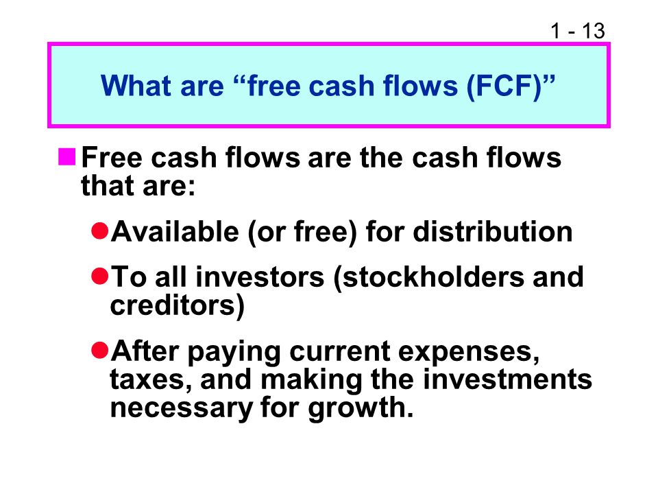 What are free cash flows (FCF)