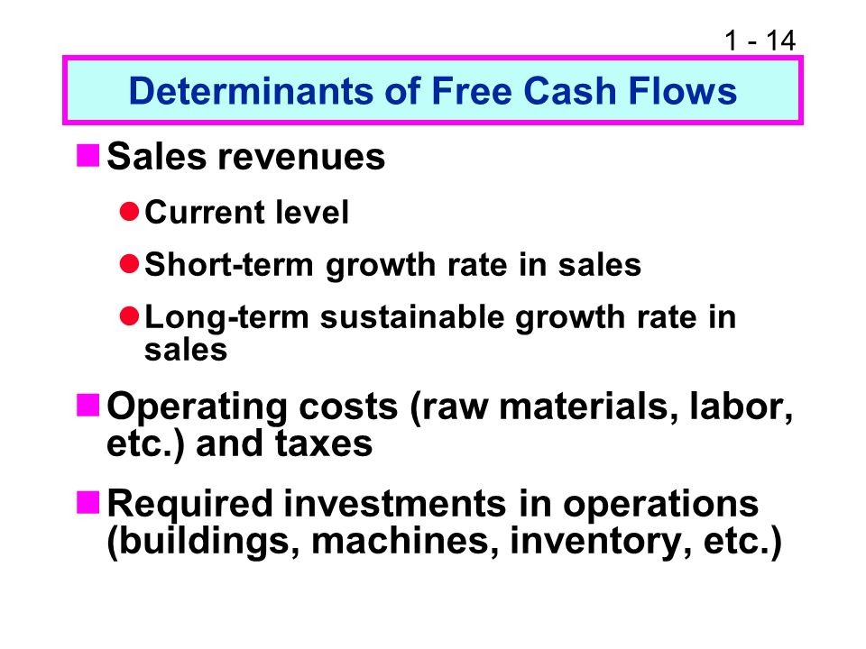 Determinants of Free Cash Flows