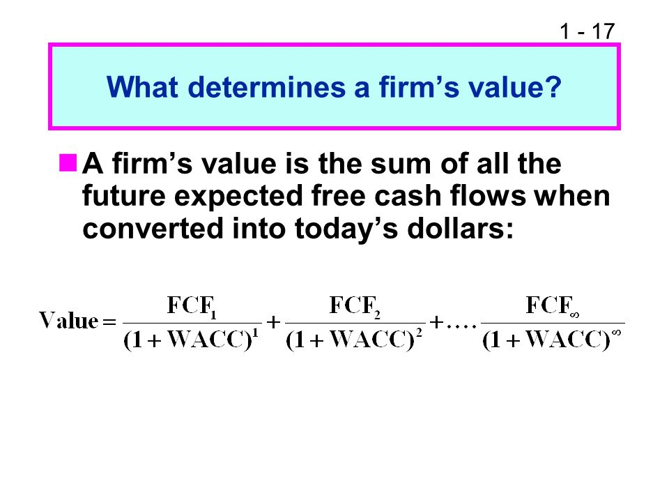 What determines a firm's value