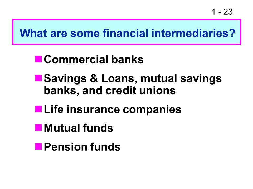 What are some financial intermediaries