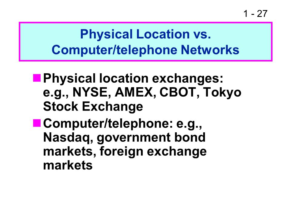 Physical Location vs. Computer/telephone Networks