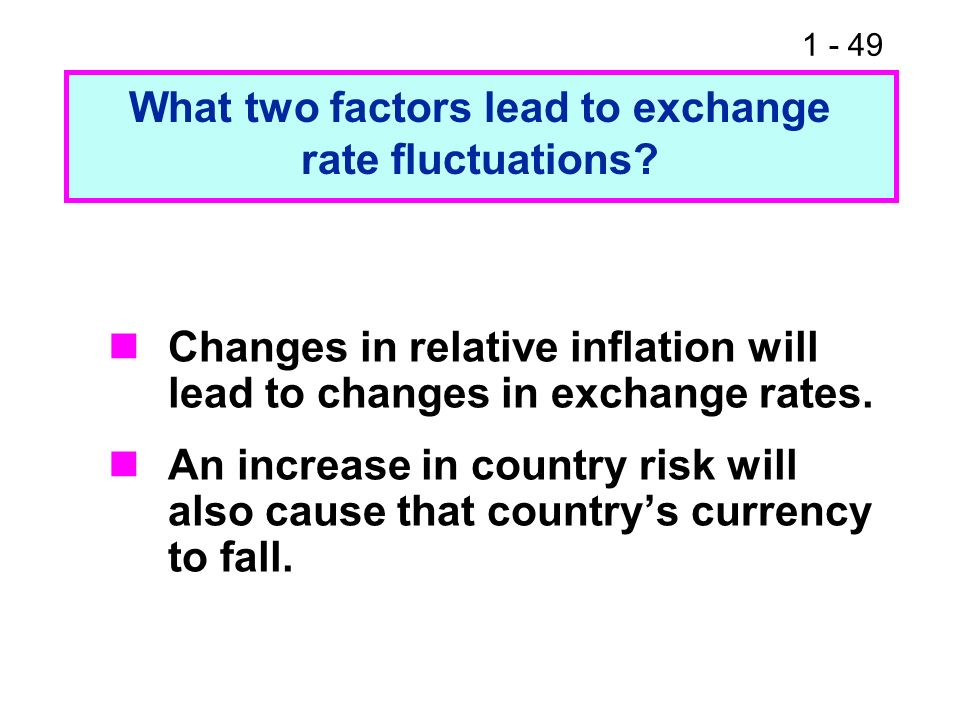 What two factors lead to exchange rate fluctuations