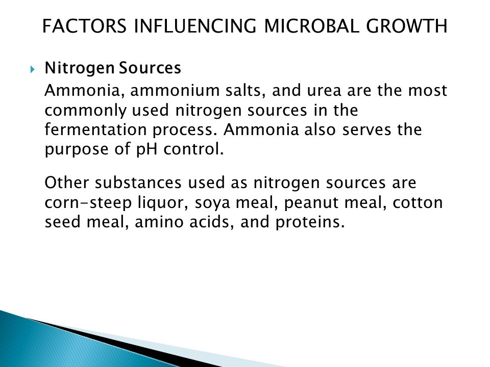 FACTORS INFLUENCING MICROBAL GROWTH