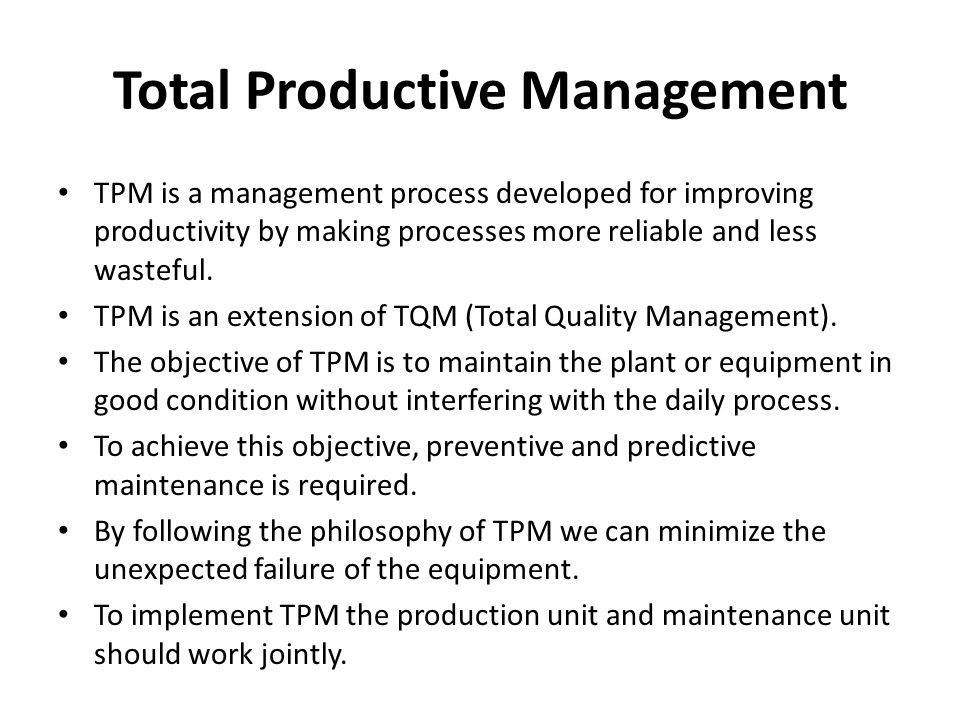 Total Productive Management