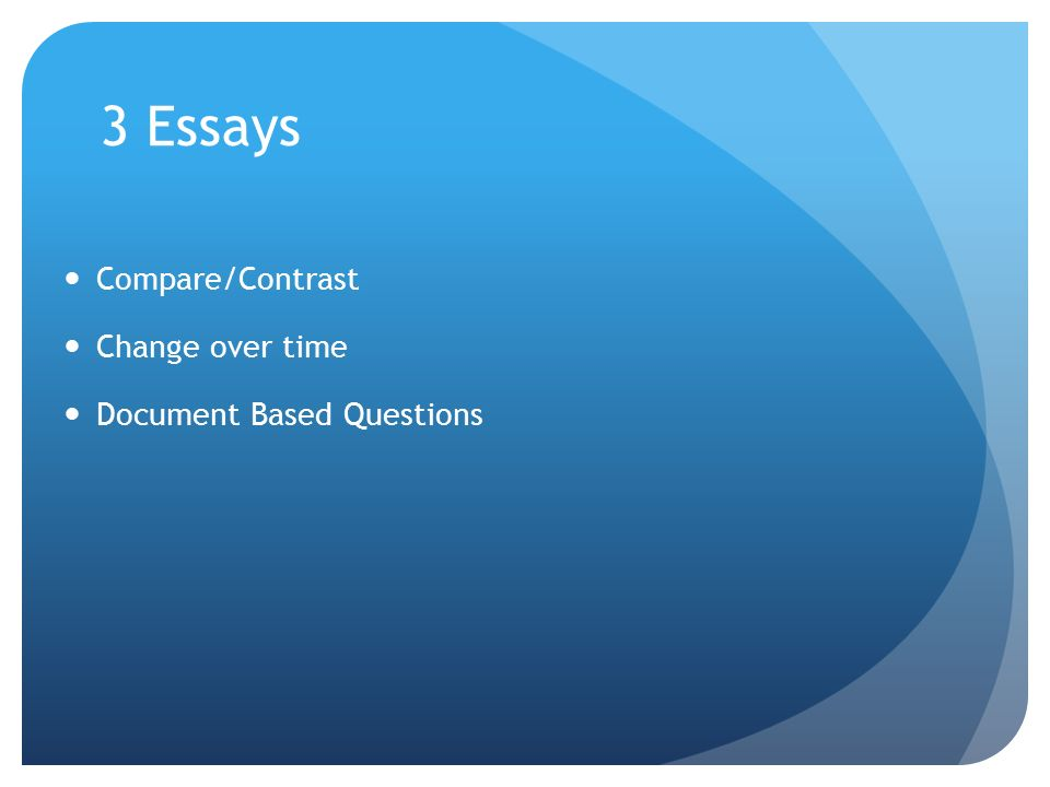 change over time essays • this essay question deals specifically with analysis of continuities and changes over time covering at least one of the periods in the course outline.