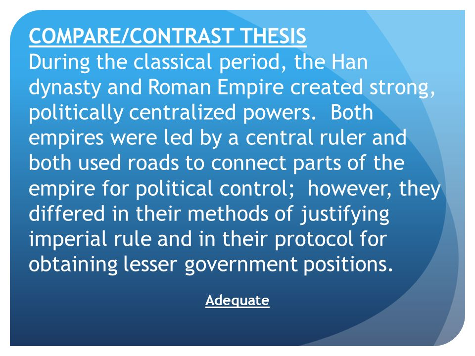 compare contrast writers