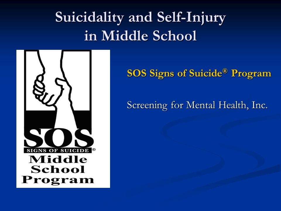 the signs of suicide program essay The nevada coalition for suicide prevention (ncsp) has compiled guidance for watching and discussing this series from various professional resources that explain if you or someone you know is struggling emotionally or showing signs indicating a possible suicidal crisis get them (or yourself) to help.