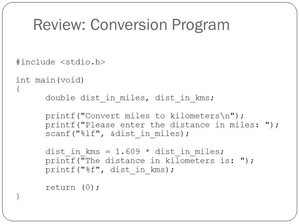 Review: Conversion Program