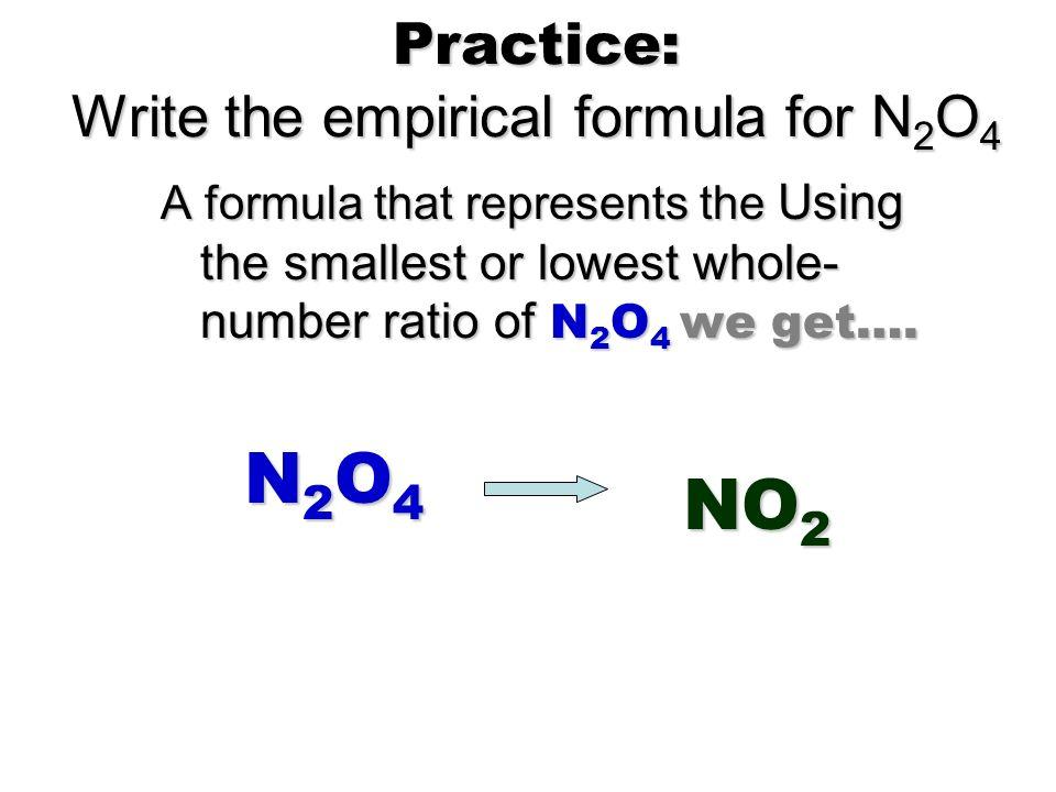 How to write the empirical formula