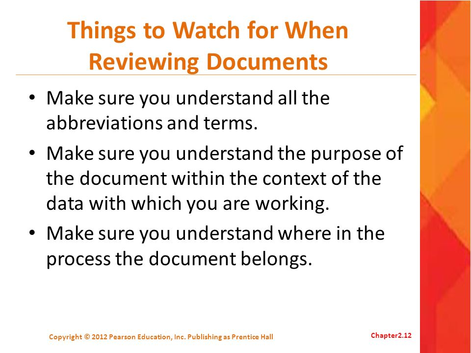 Things to Watch for When Reviewing Documents