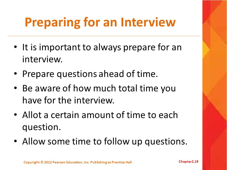 Preparing for an Interview