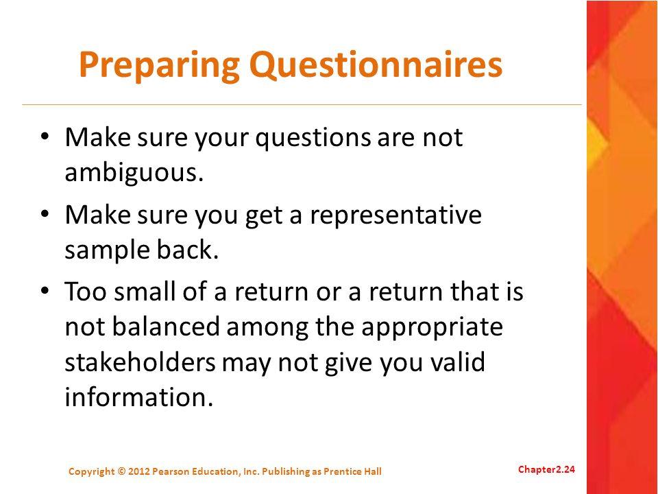 Preparing Questionnaires