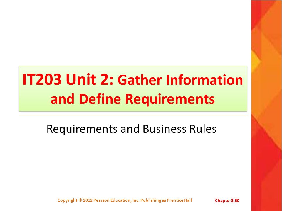 IT203 Unit 2: Gather Information and Define Requirements