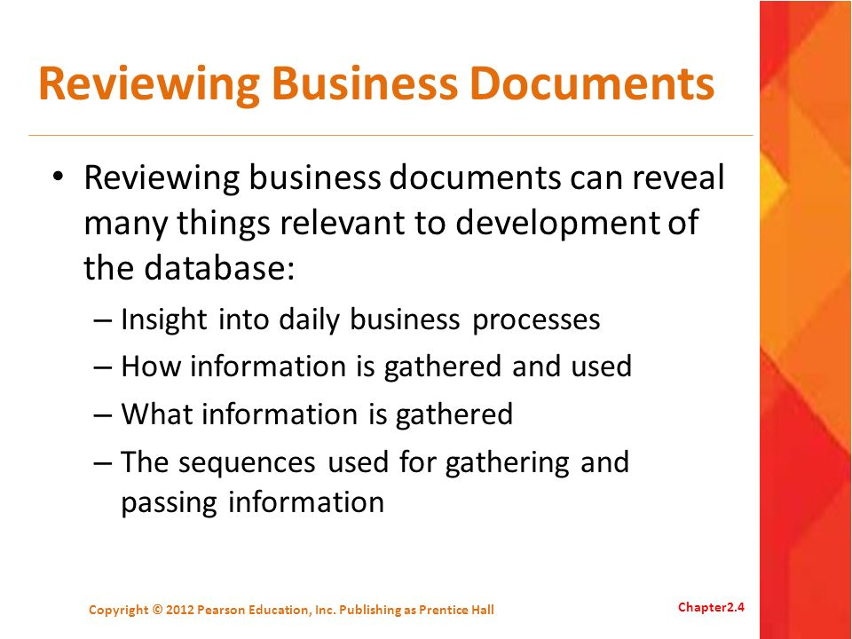 Reviewing Business Documents