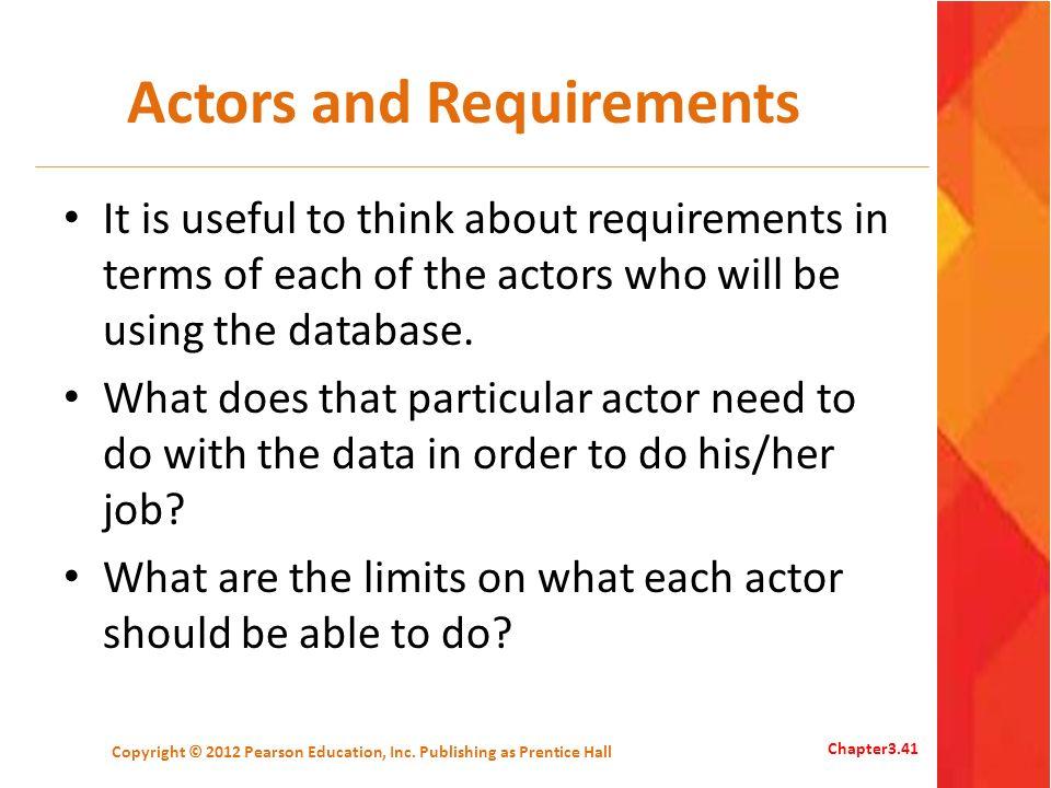 Actors and Requirements