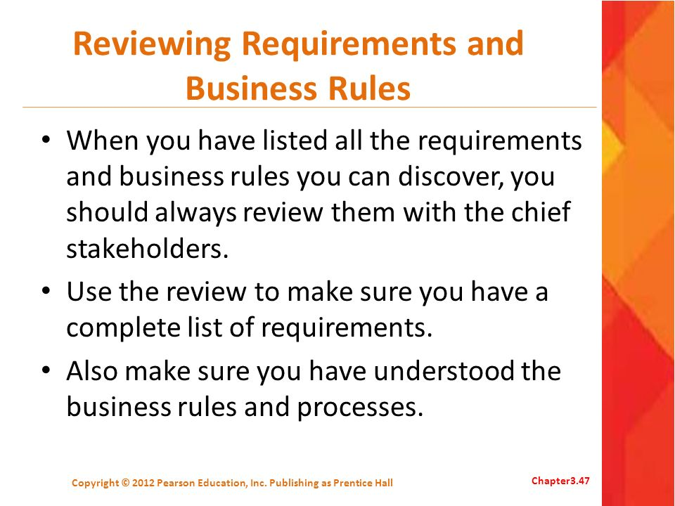 Reviewing Requirements and Business Rules