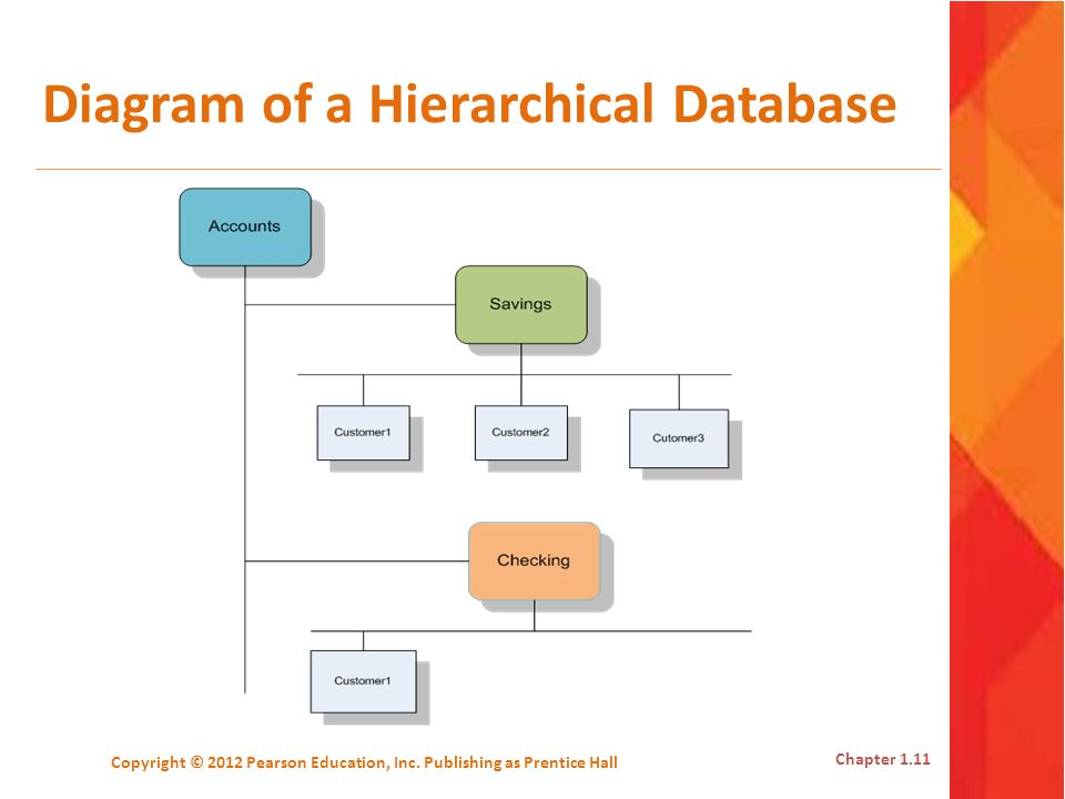 Diagram of a Hierarchical Database