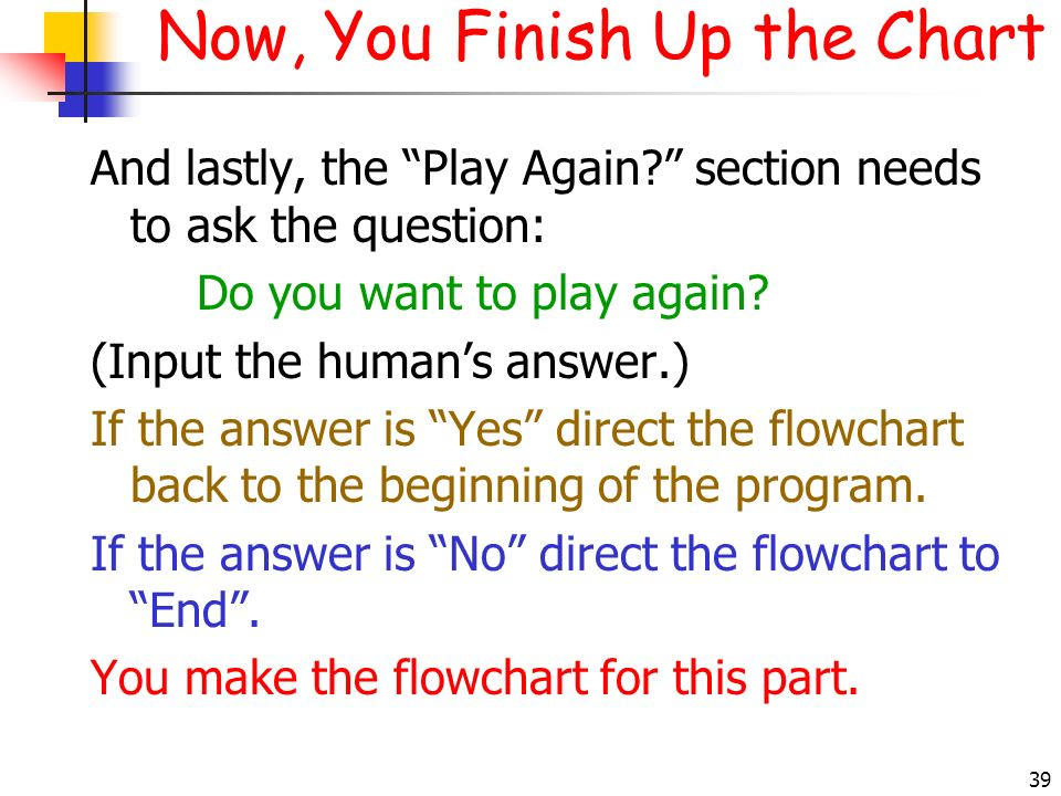 Now, You Finish Up the Chart
