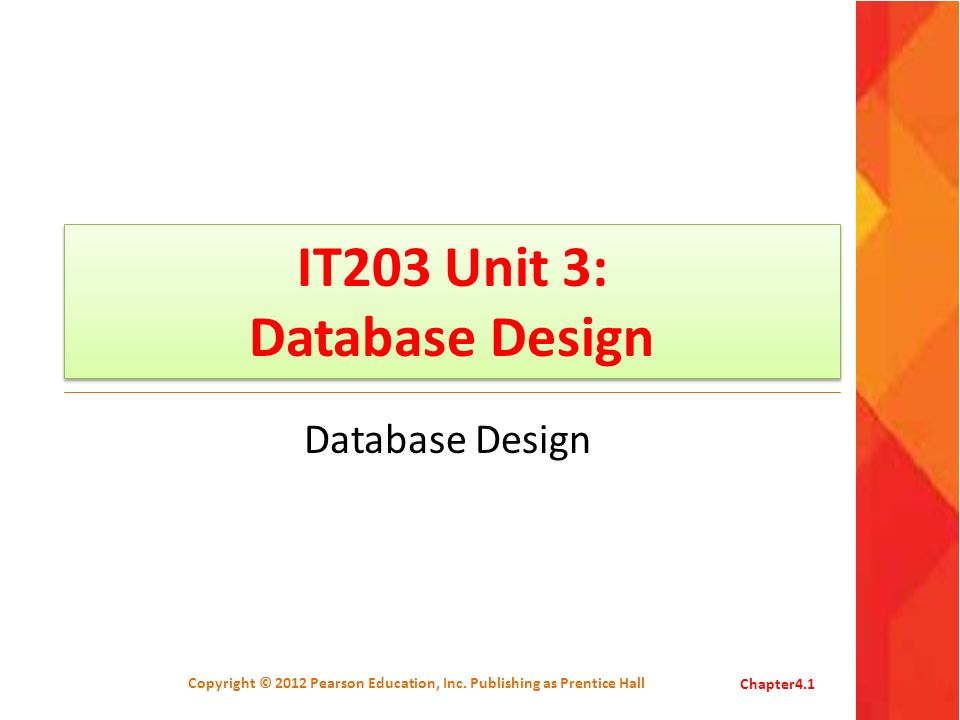 IT203 Unit 3: Database Design