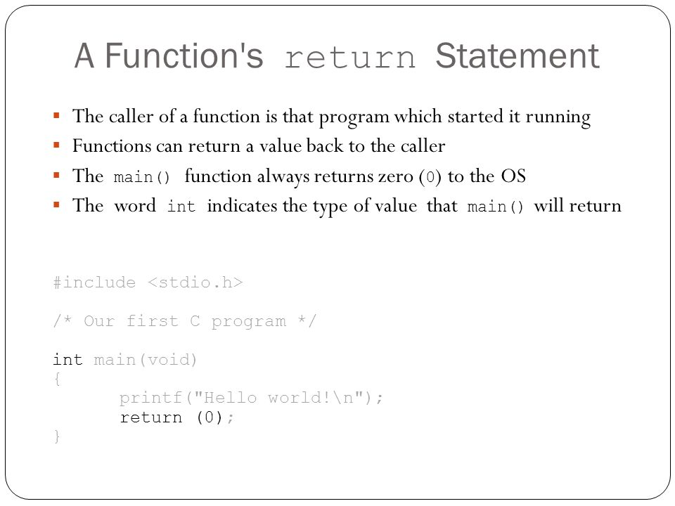 A Function s return Statement