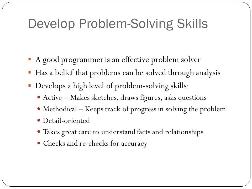 Develop Problem-Solving Skills