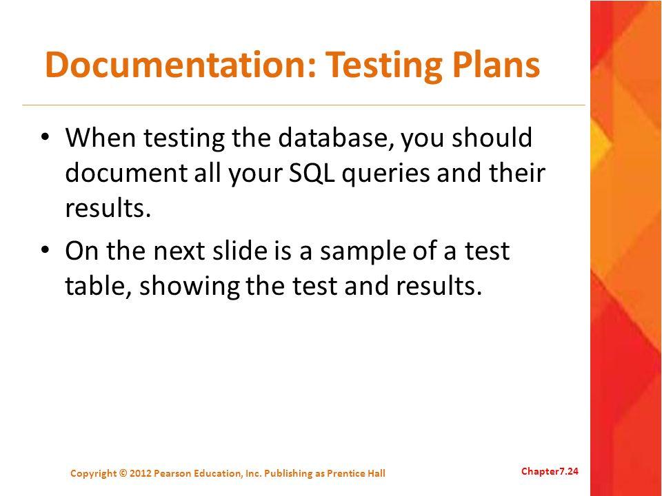 Documentation: Testing Plans