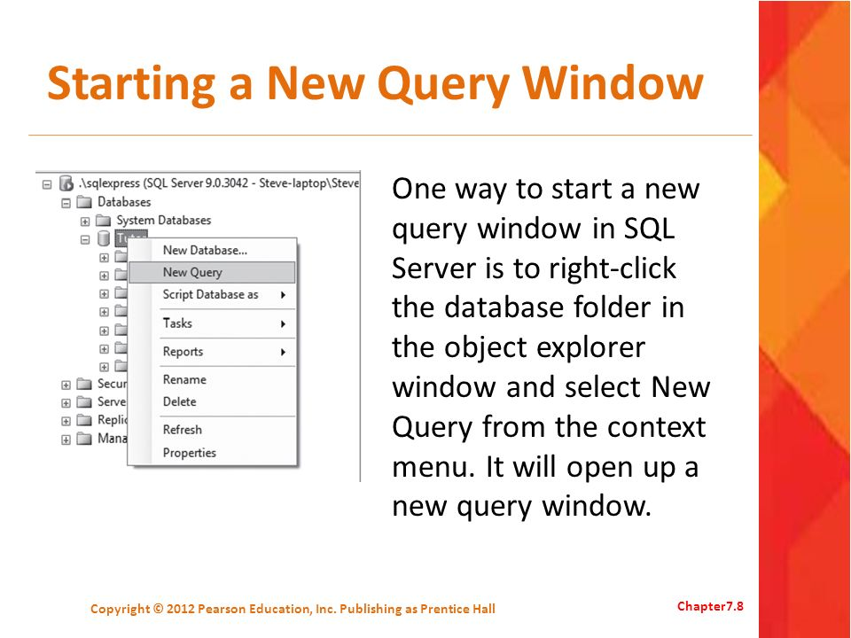 Starting a New Query Window