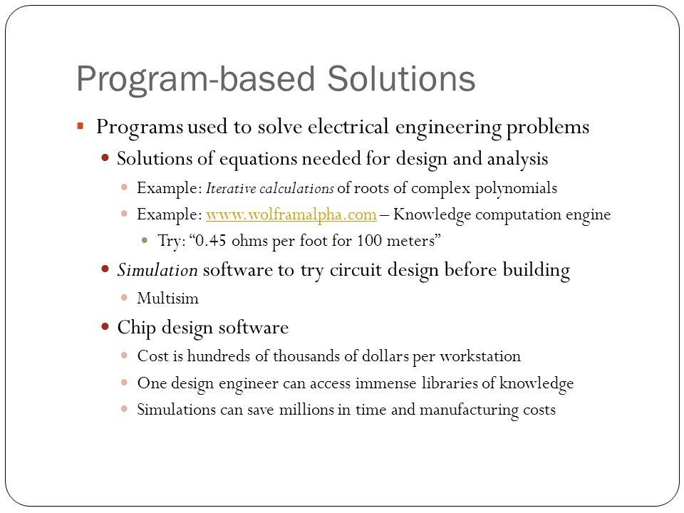 Program-based Solutions