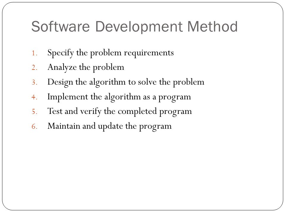 Software Development Method