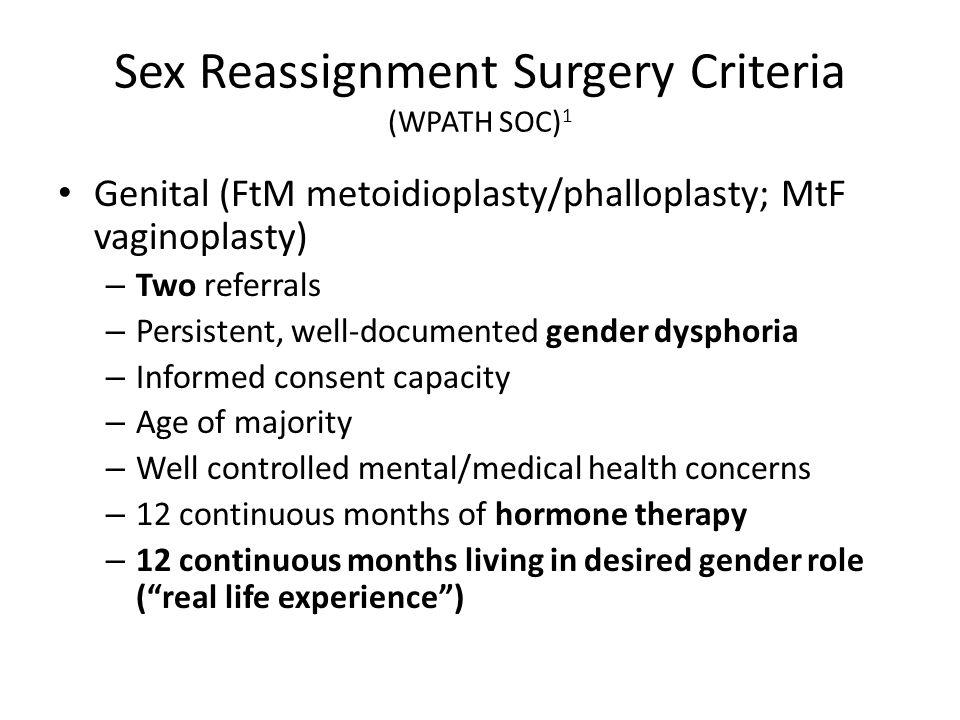 Gender Re Assignment Surgery