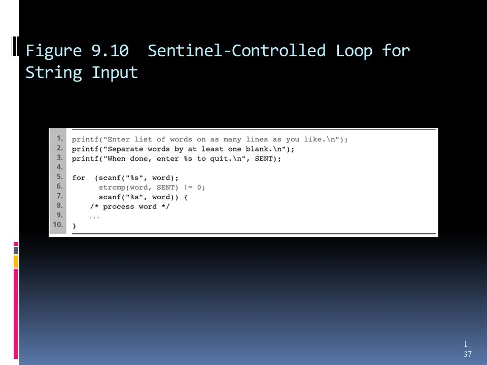 Figure 9.10 Sentinel-Controlled Loop for String Input