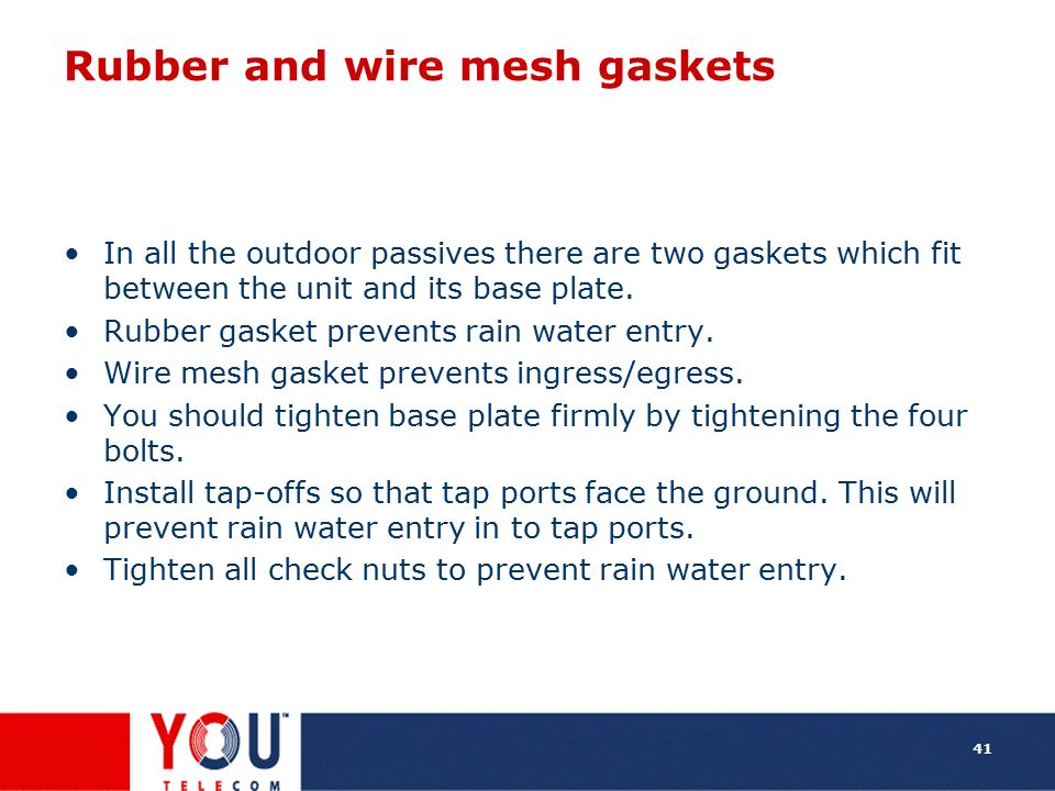 Rubber and wire mesh gaskets