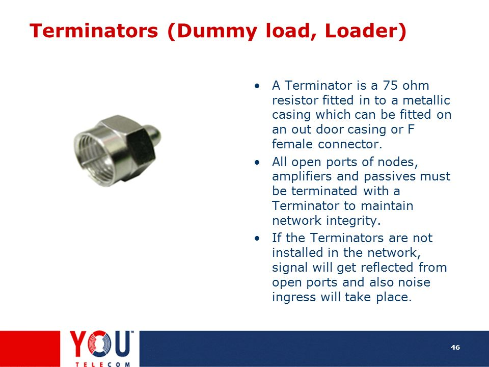 Terminators (Dummy load, Loader)