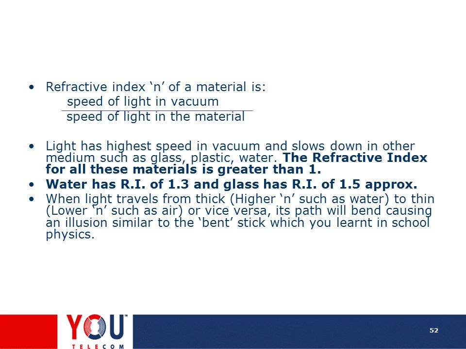 Refractive index 'n' of a material is: