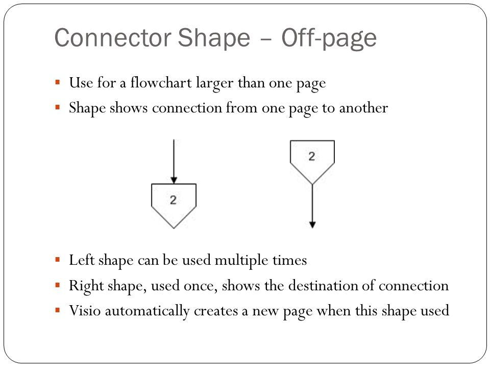 Connector Shape – Off-page