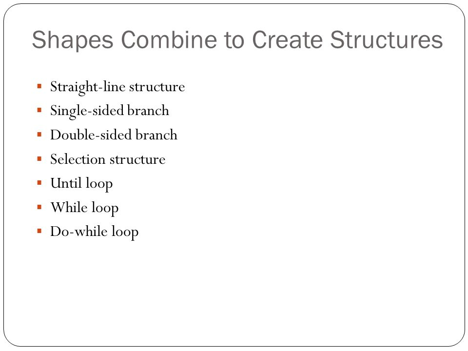 Shapes Combine to Create Structures