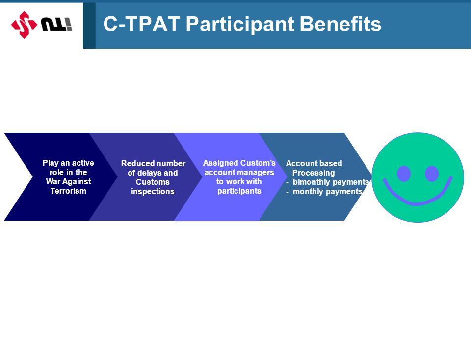 C-TPAT Participant Benefits