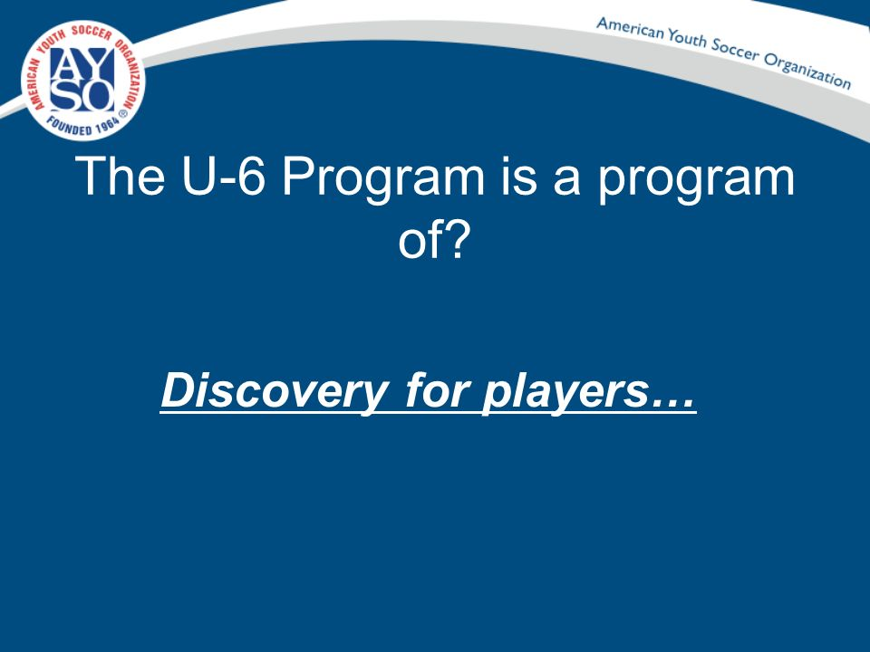 The U-6 Program is a program of