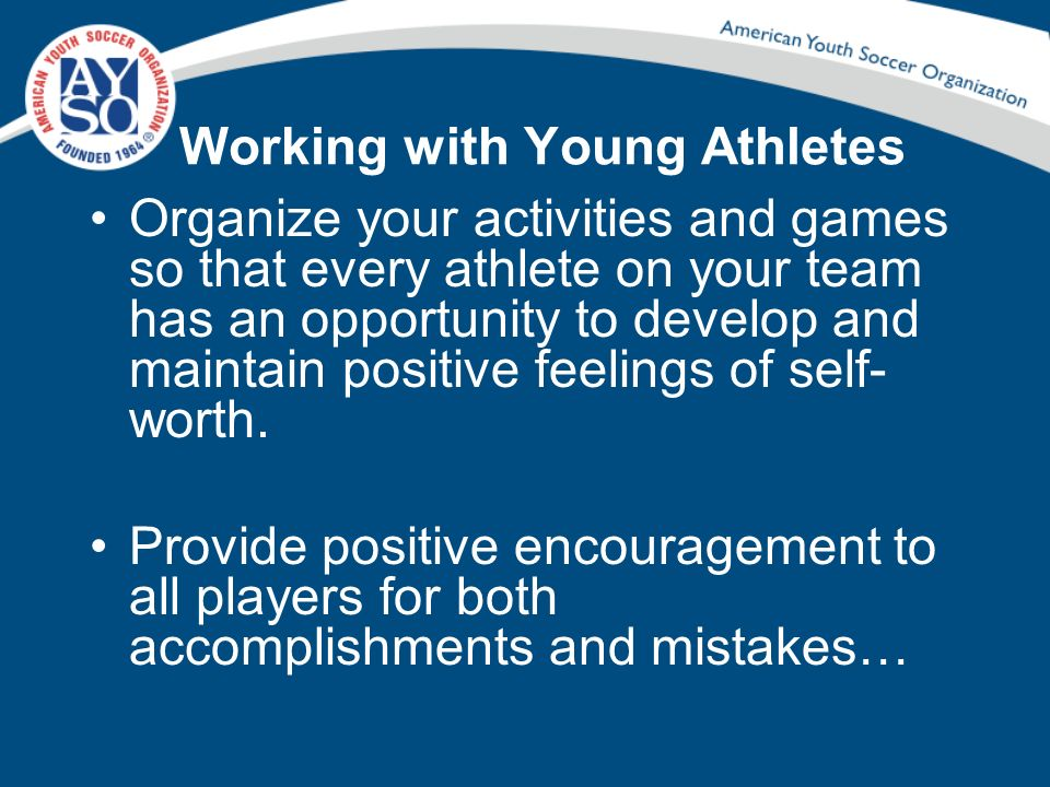Working with Young Athletes