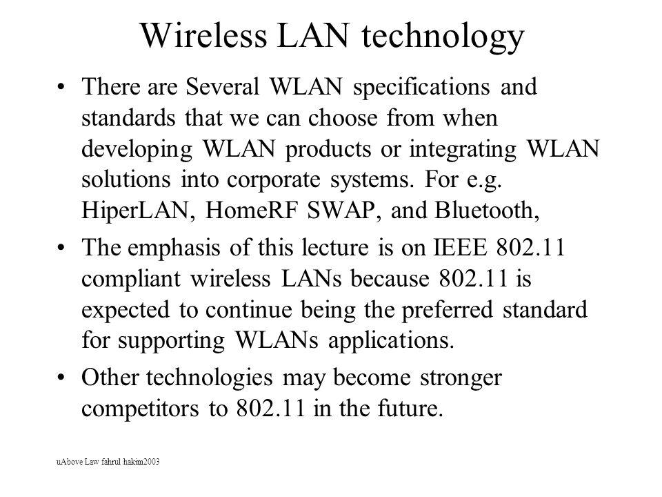 Wireless LAN technology