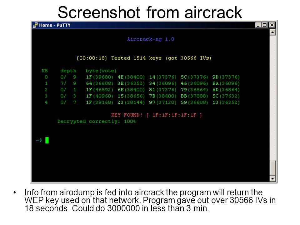 Screenshot from aircrack