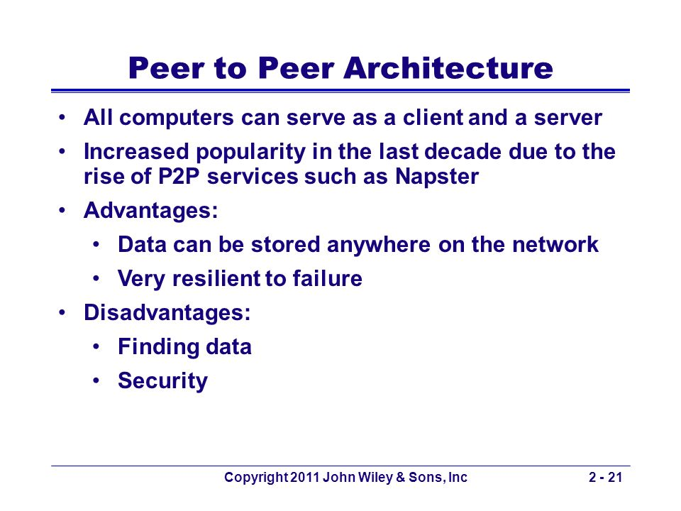 Peer to Peer Architecture