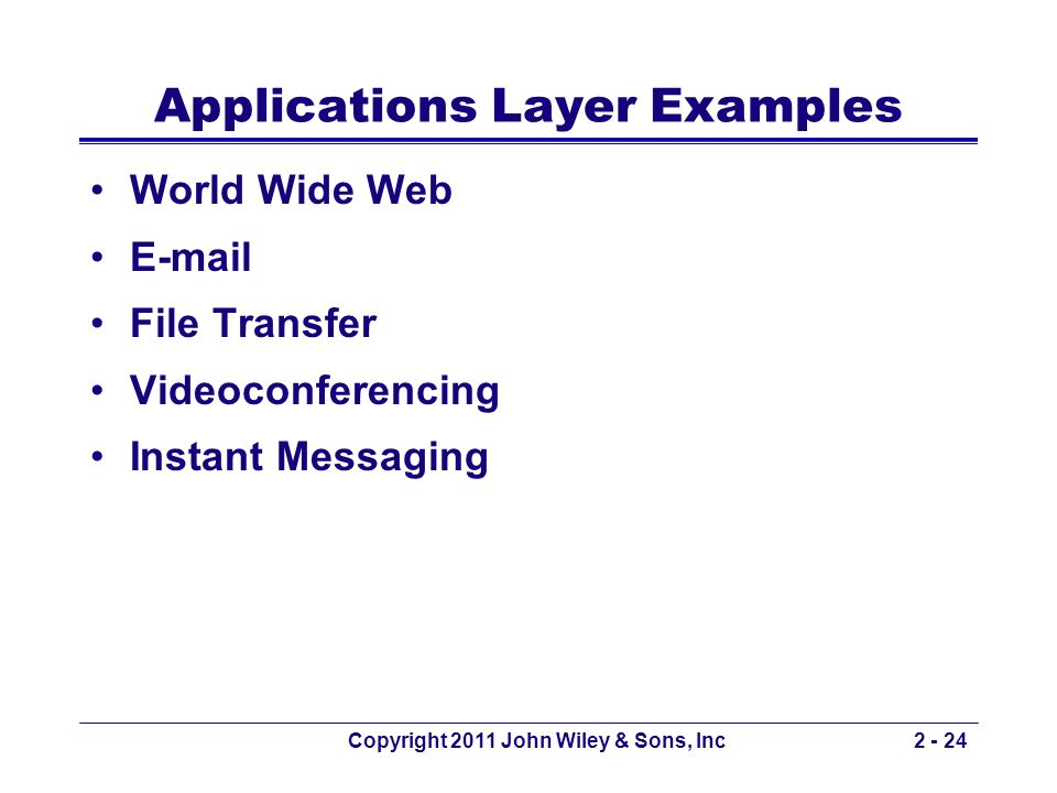 Applications Layer Examples