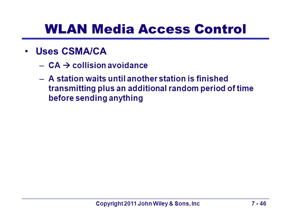 WLAN Media Access Control