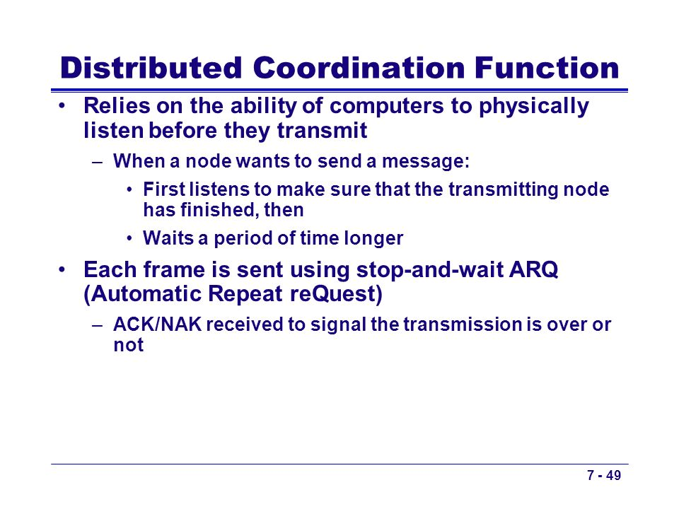 Distributed Coordination Function