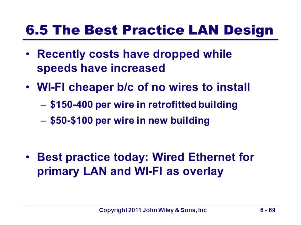6.5 The Best Practice LAN Design