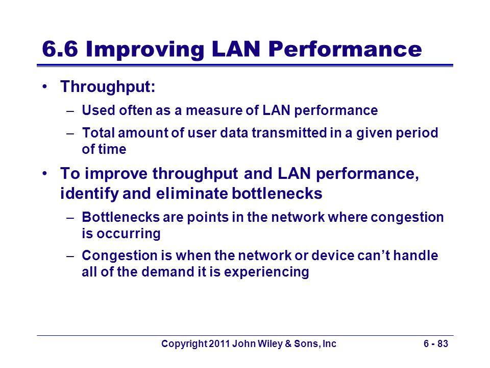 6.6 Improving LAN Performance